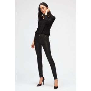 7 For All Mankind Black Coated The Skinny Jeans